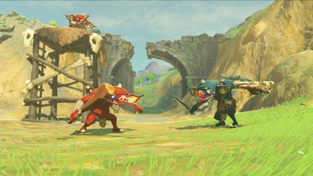 Nintendo UK releases 4 screenshots of Bokoblins in Breath of the Wild.