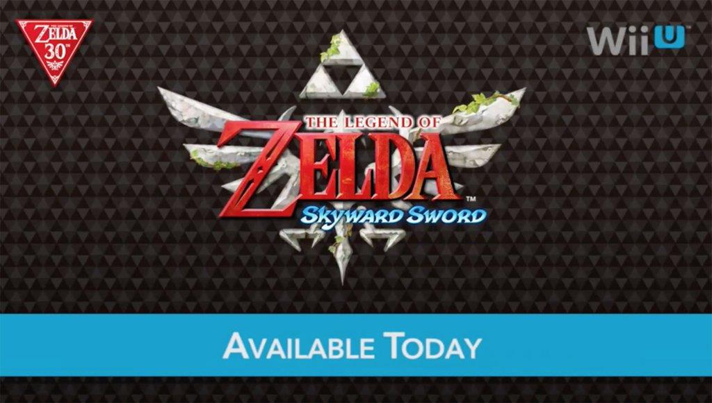Skyward Sword available on the WiiU eShop.