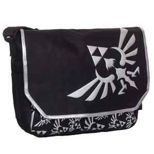 Zelda: Messenger Bag with Embroidered Hylian Crest Logo